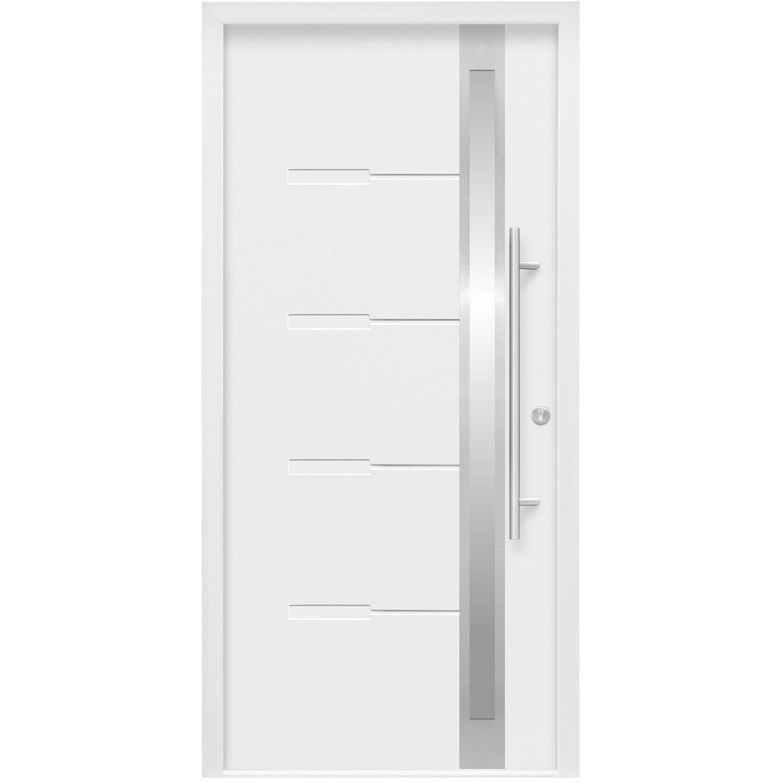 Splendoor Sicherheits-Haustür ThermoSpace Neapel RC2 110 x 210 cm Weiß Anschlag Rechts