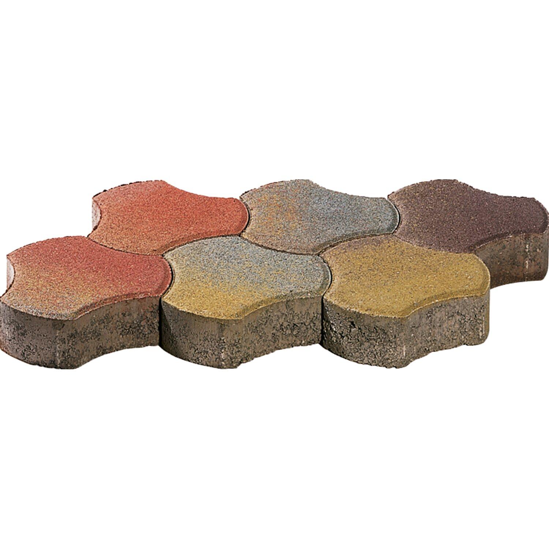 Pflasterstein Heilbronner Herbstmix 6 cm x 17,3 cm x 17,3 cm