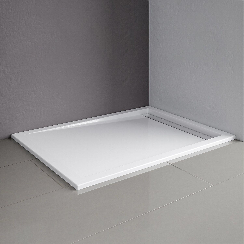 schulte duschwanne mit rinne extraflach rinnenabdeckung chromoptik 90 x 100 cm kaufen bei obi. Black Bedroom Furniture Sets. Home Design Ideas
