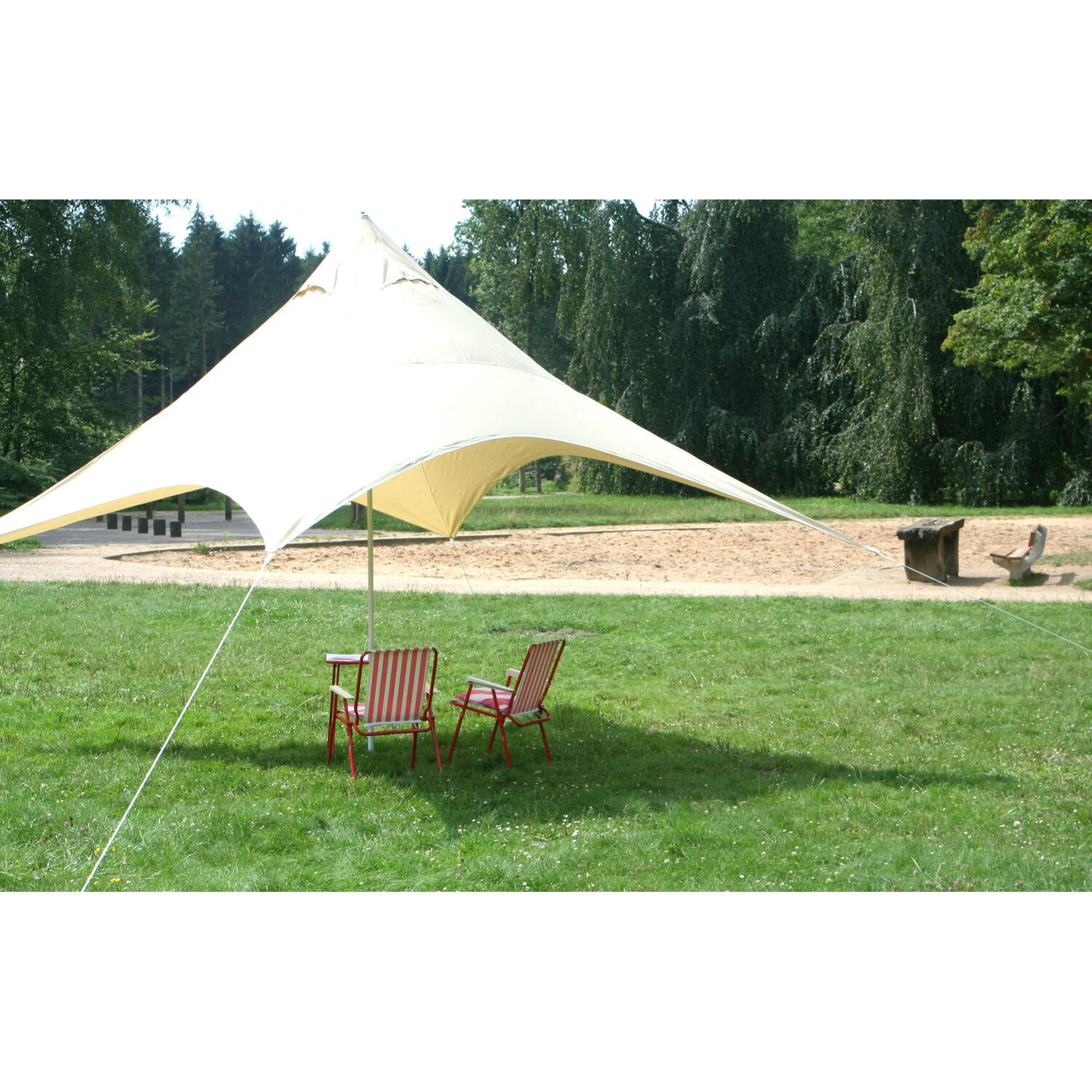 Floracord Camping Pyramiden Sonnensegel Sand 40...