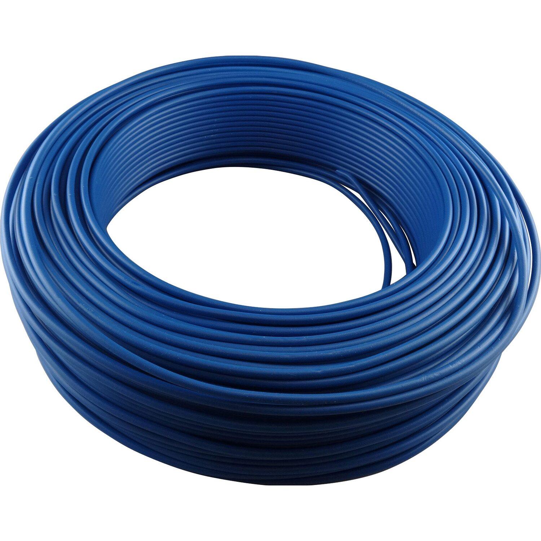 H07V-U  1,5 Einzelader PVC Aderleitung 100 m in  Blau ! Kupfer !!!