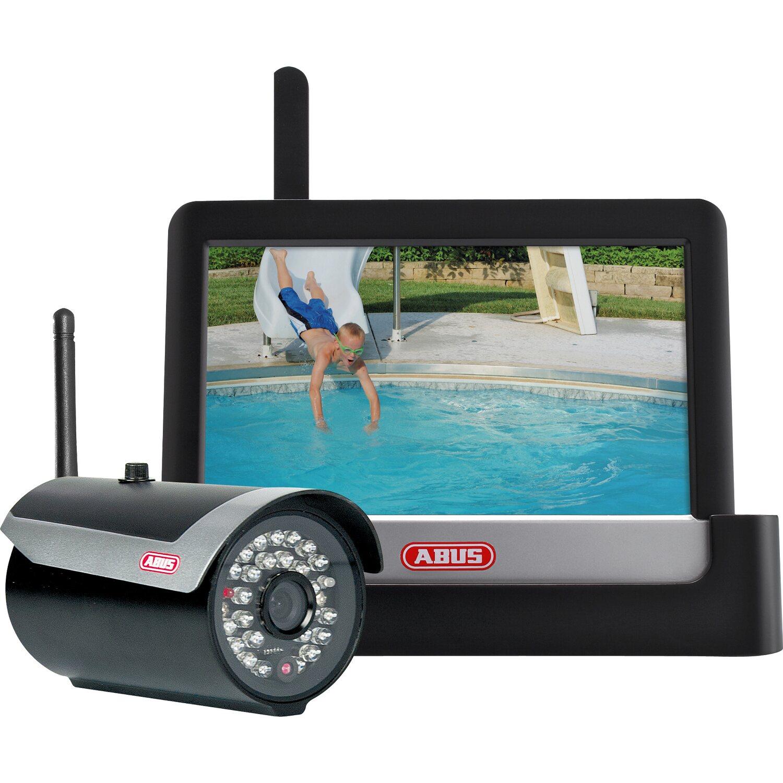 """Abus 7"""" Heim-Videoüberwachungsset Touch & App, Komplettpaket"""