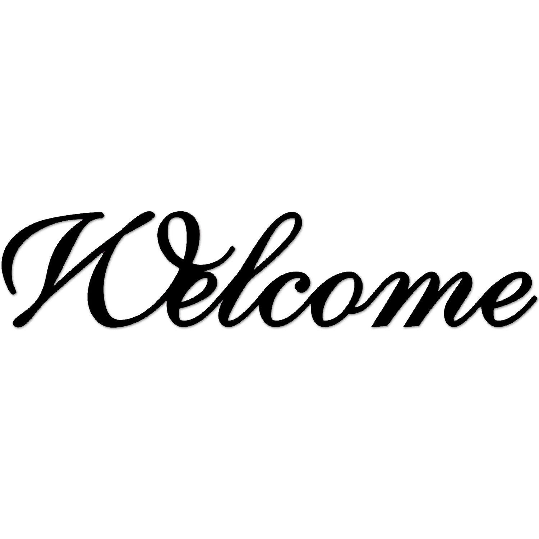 Dekoschriftzug Welcome 70 cm x 25 cm