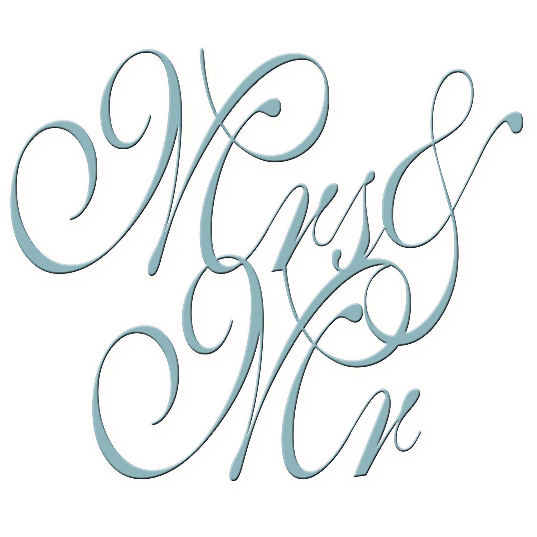 Dekoschriftzug Mr & Mrs 50 cm x 50 cm