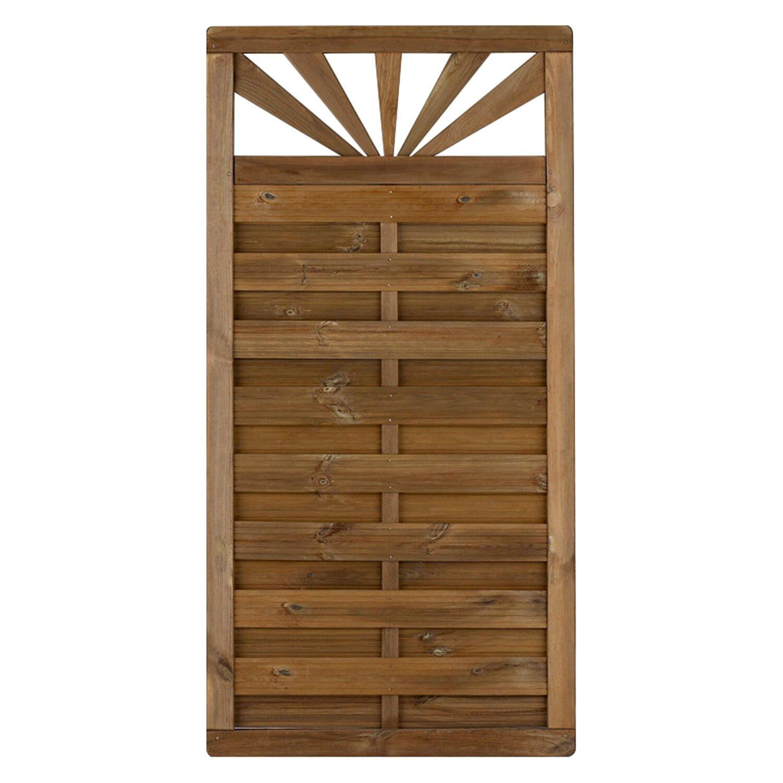 sichtschutzzaun element sunset druckimpr gniert mit gitter 90 cm x 180 cm kaufen bei obi. Black Bedroom Furniture Sets. Home Design Ideas