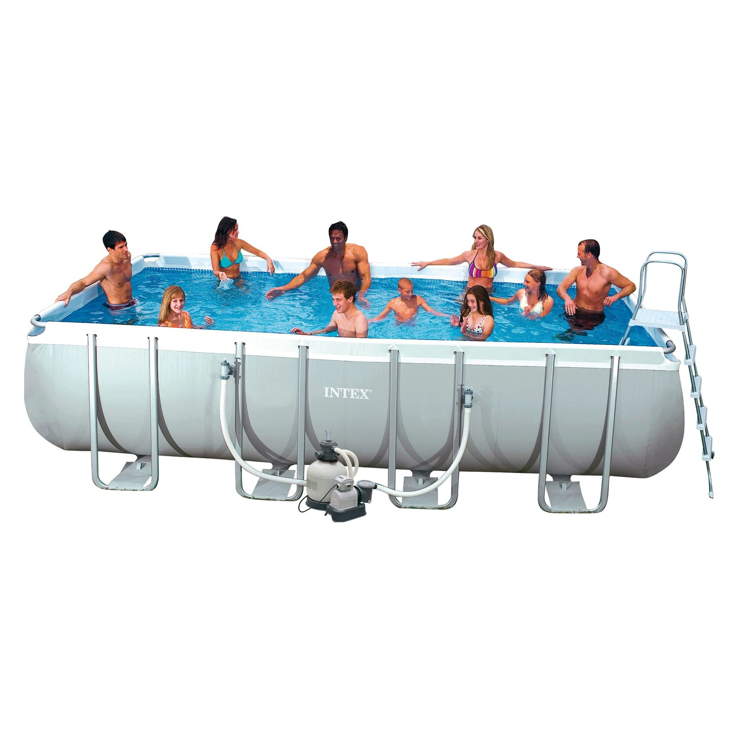 Ultra quadra i frame pool set 549 cm x 274 cm x 132 cm for Badepool obi