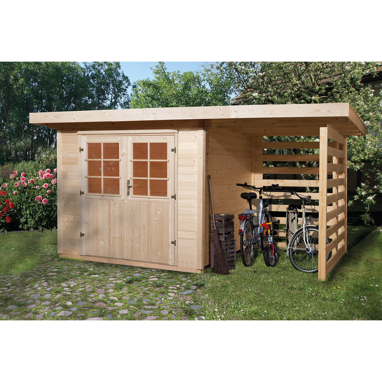 OBI Holz Gartenhaus La Spezia B x T: 385 cm x 209 cm davon 150 cm