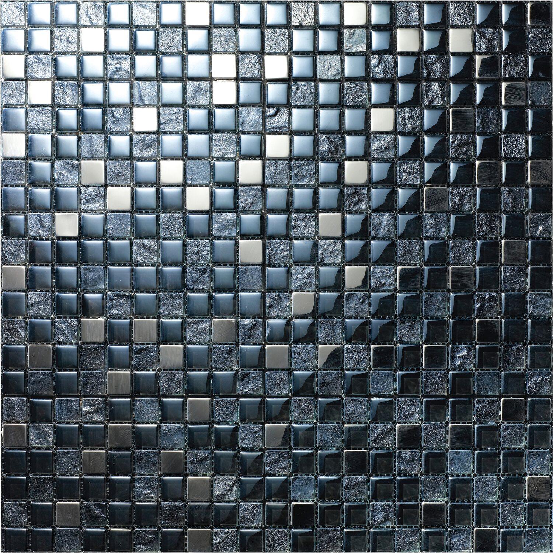 Glasmosaikmatte Diamond 30 cm x 30 cm