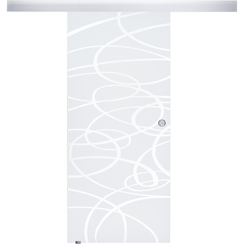 OBI  Glasschiebetür Laco geschlossenes System Streifen 90 cm x 205 cm