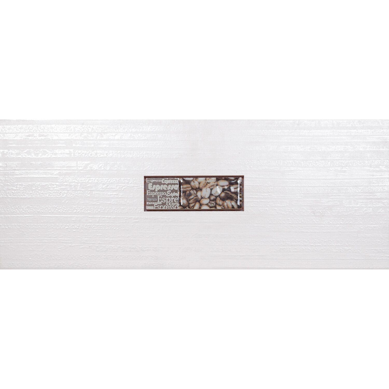 Sonstige 1er Dekor Brick Creme Matt Espresso 20 cm x 50 cm