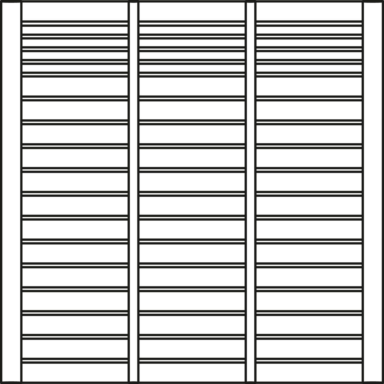 Sichtschutzzaun Element Rondo Kiefer Weiß endbehandelt 178 cm x