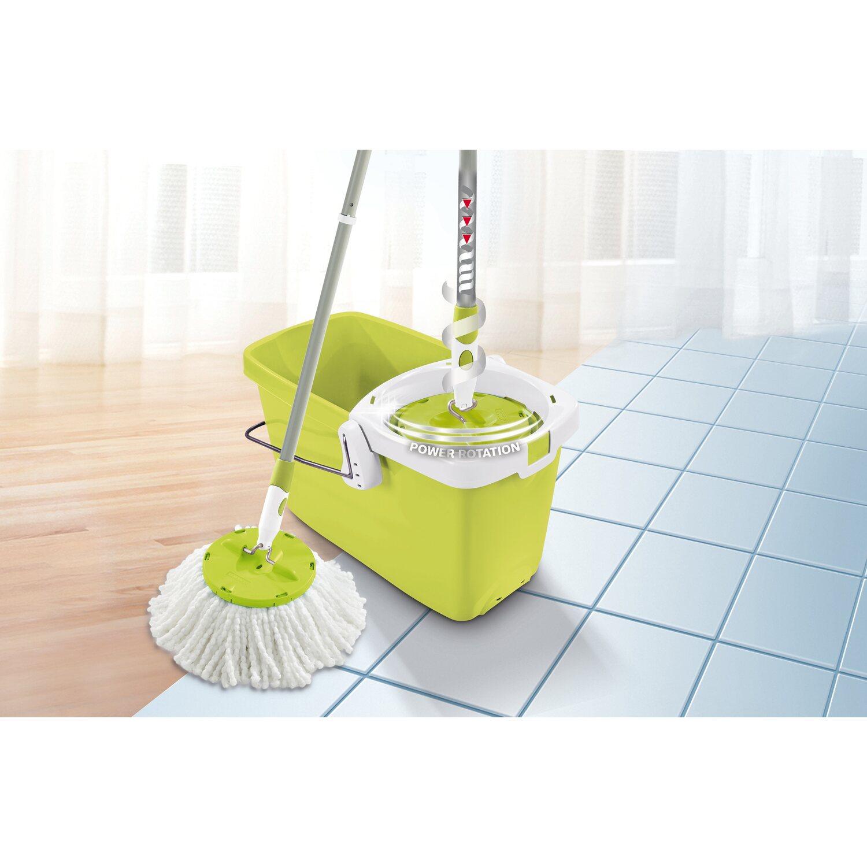 leifheit set clean twist disc mop shiny green kaufen bei obi. Black Bedroom Furniture Sets. Home Design Ideas