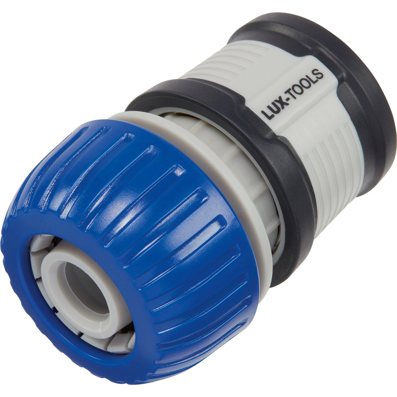 LUX Schlauchstück mit Wasserstopp Kunststoff 19 mm (3/4)