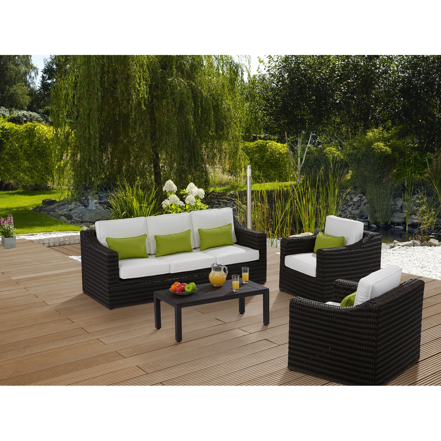 obi gartenm bel gruppe jackson 4 tlg kaufen bei obi. Black Bedroom Furniture Sets. Home Design Ideas