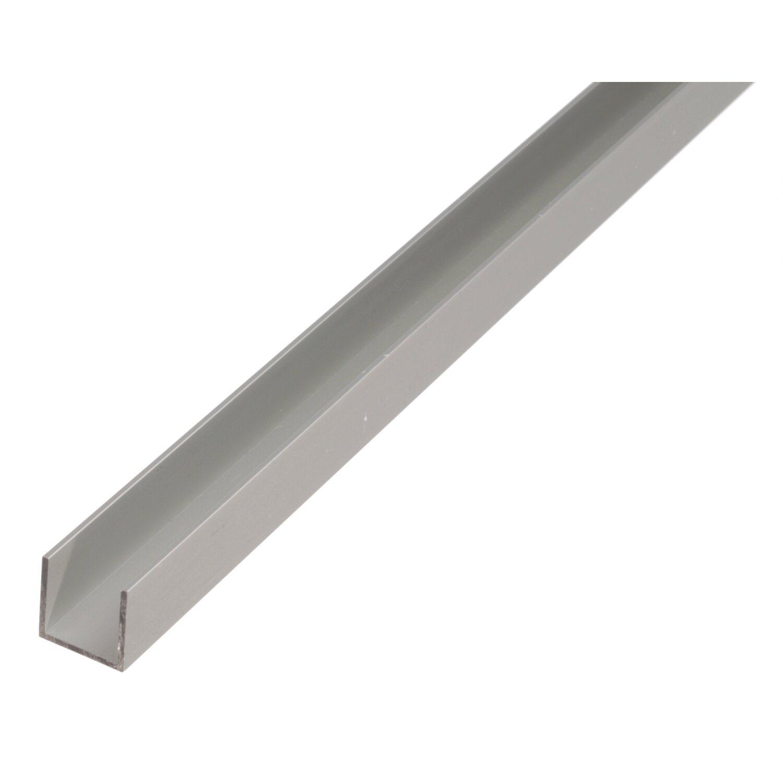 U-Profil Silber eloxiert 8 mm x 10 mm x 2000 mm