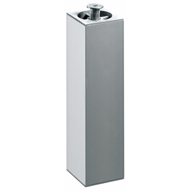 Hettich  Aluminium-Möbelfuß höhenverstellbar 40 x 40 x 200 - 230 mm