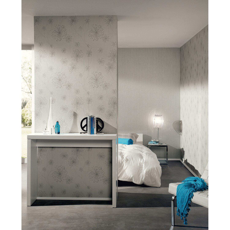 A s creation vliestapete blumen grau kaufen bei obi - Tapeten wohnzimmer obi ...
