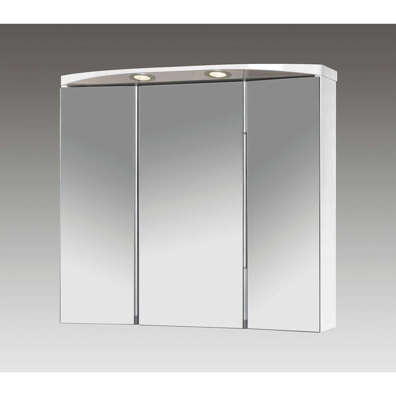 Jokey Spiegelschrank Lauria LED 70 cm x 64 cm x 22 cm Weiß EEK: A ...