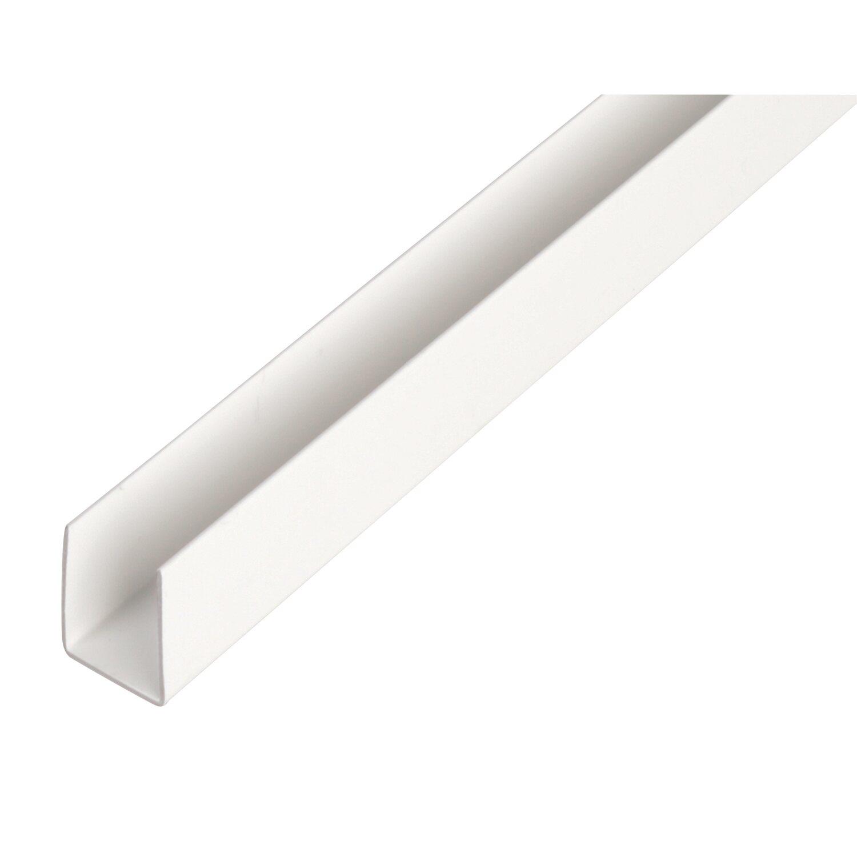 U-Profil Weiß 10 mm x 12 mm x 2600 mm