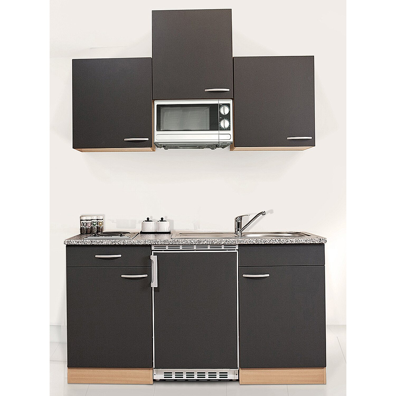 respekta k chenzeile kb150bgmi 150 cm grau buche nachbildung kaufen bei obi. Black Bedroom Furniture Sets. Home Design Ideas
