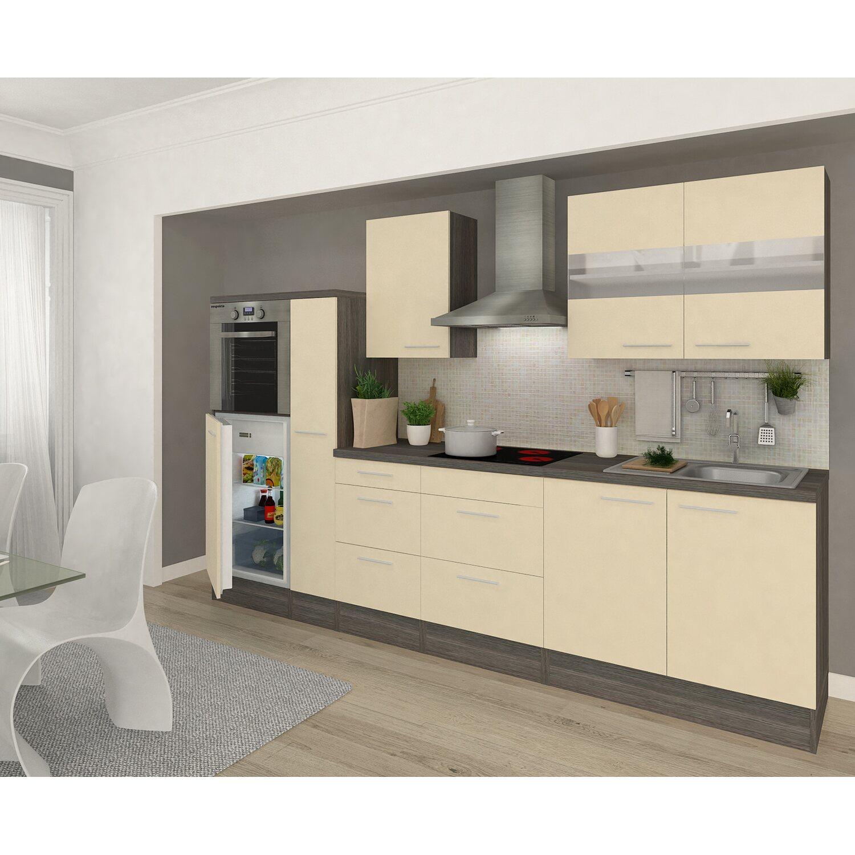 respekta premium k chenzeile rp300heva 300 cm vanille eiche grau nachbildung kaufen bei obi. Black Bedroom Furniture Sets. Home Design Ideas