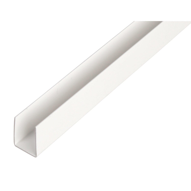 U-Profil Weiß 20 mm x 21 mm x 2600 mm