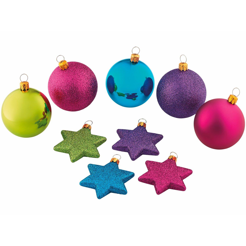 Obi baumschmuck set 50 teilig farbmix kaufen bei obi - Obi weihnachtskugeln ...