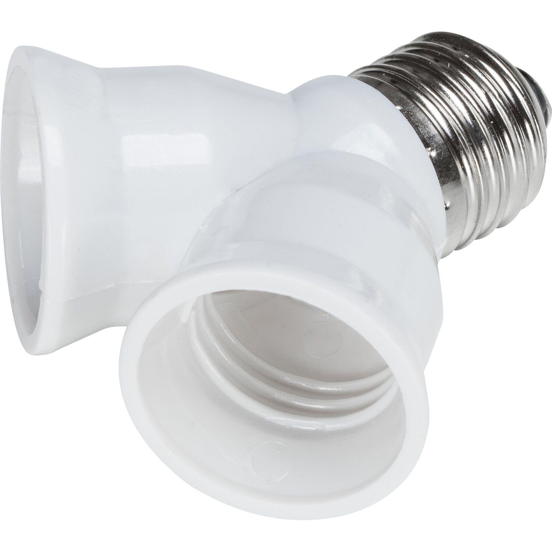Lampe Splitter E27 Zwei E27; 2 Into 1; Schraube Glühbirne Fassung Adapter