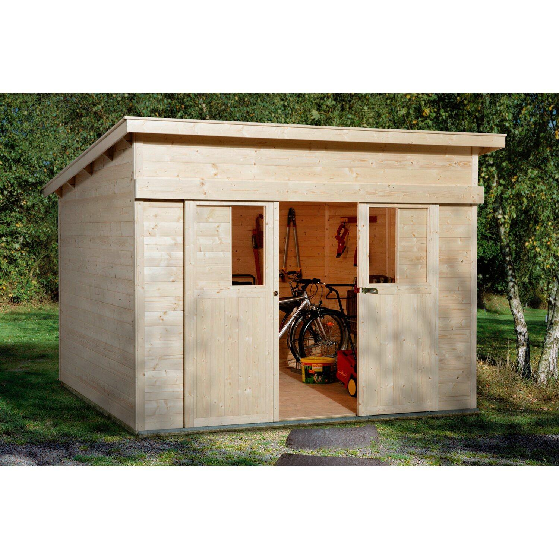 weka holz gartenhaus turin a natur bxt 295 cm x 209 cm. Black Bedroom Furniture Sets. Home Design Ideas