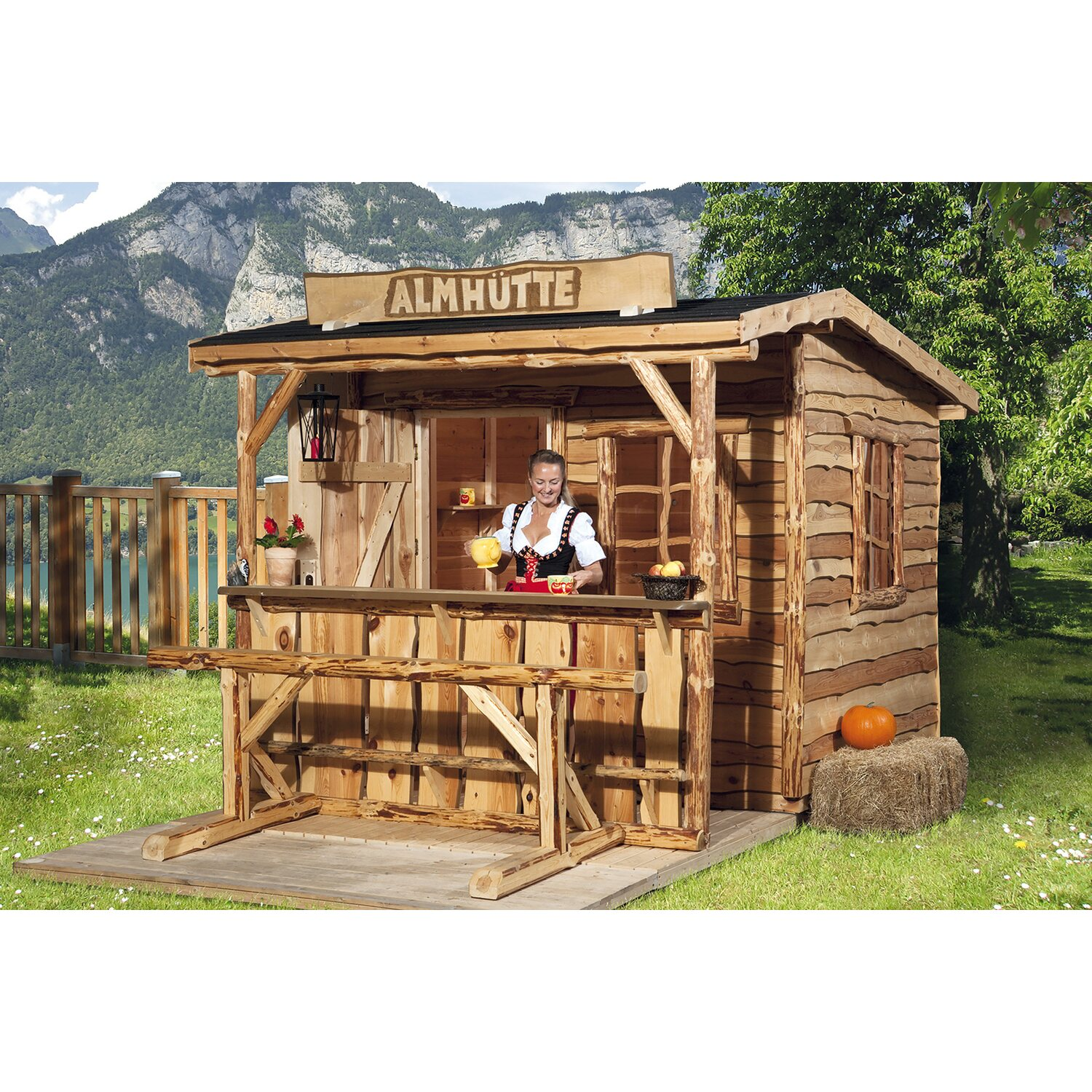 weka holz gartenhaus nature 3 gr e 2 300 cm x 350 cm mit sitzgel und tresen kaufen bei obi. Black Bedroom Furniture Sets. Home Design Ideas