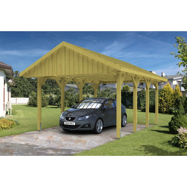 Skan Holz Satteldach-Einzelcarport Sauerland BxT 430 cm x 600 cm mit Dachlattung Preisvergleich