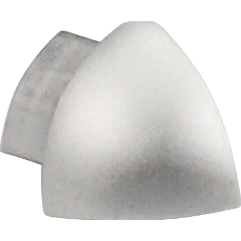 Arcansas Außenecke Viertelkreis-Abschlussprofil Alu eloxiert Silber glänzend 8 mm