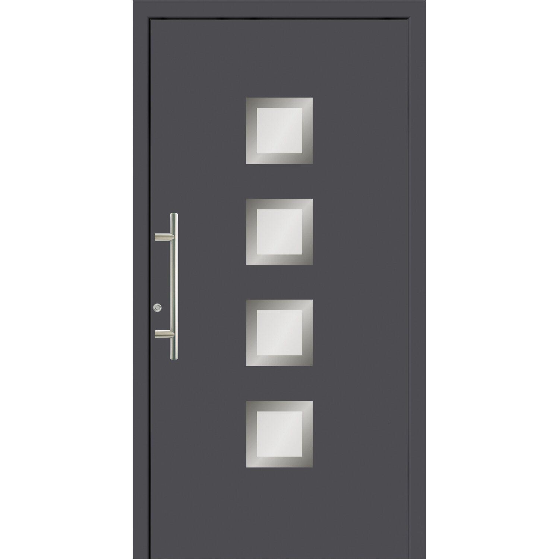 Eingangstür Anthrazit aluminium haustür 100 cm x 210 cm fü 55201 anthrazit anschlag links