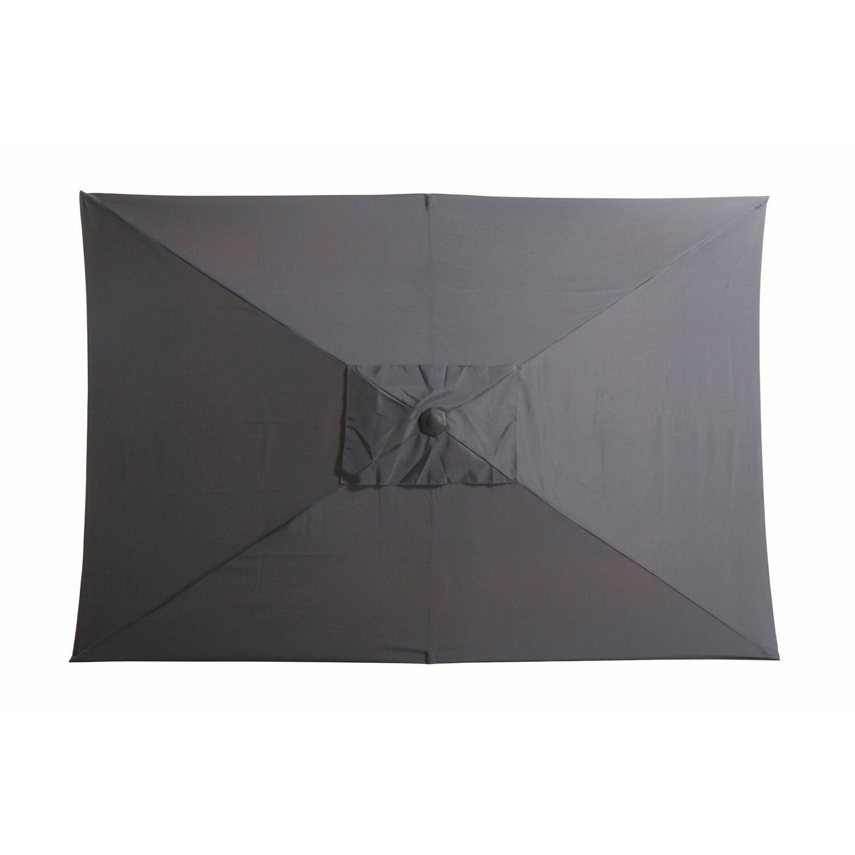 obi sonnenschirm honolulu eckig anthrazit 300 cm x 200 cm. Black Bedroom Furniture Sets. Home Design Ideas