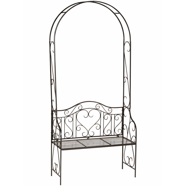 obi rosenbogen mit bank palmdale 228 cm anthrazit kaufen bei obi. Black Bedroom Furniture Sets. Home Design Ideas