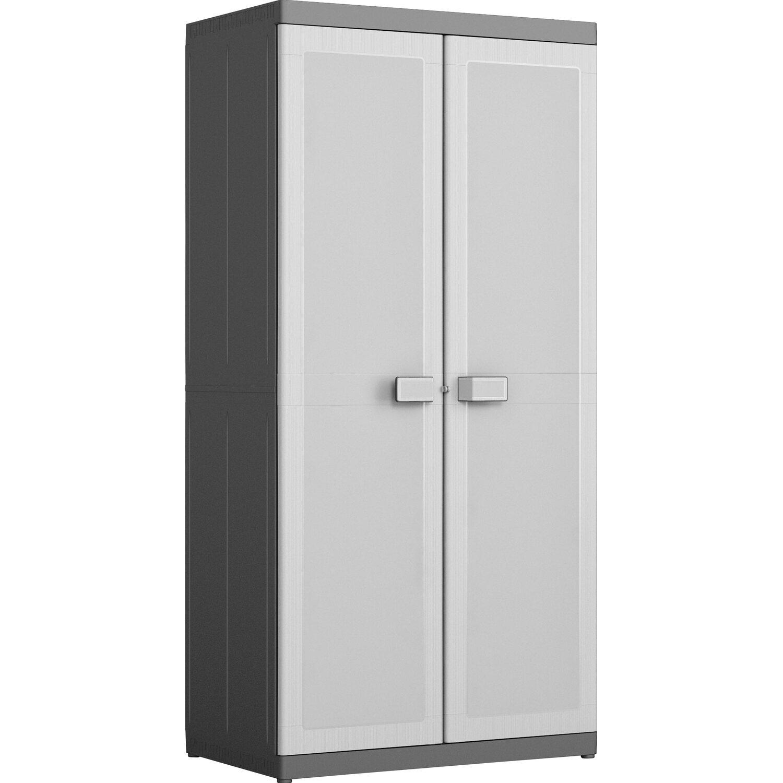 Schrank Logico XL Grau-Schwarz 4 Böden kaufen bei OBI