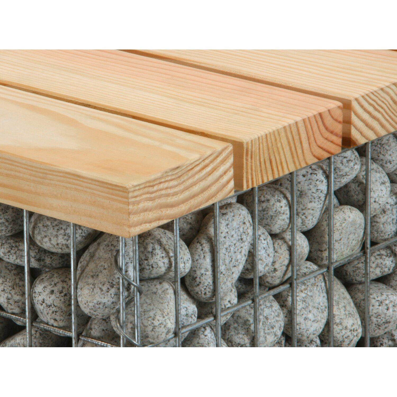 gabionen bank mittel 100 cm x 54 cm x 50 cm kaufen bei obi. Black Bedroom Furniture Sets. Home Design Ideas