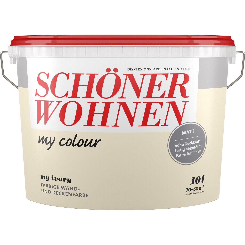 Schöner Wohnen My Colour My Basalt Matt 10 L Kaufen Bei Obi: Schöner Wohnen My Colour My Ivory Matt 10 L Kaufen Bei OBI