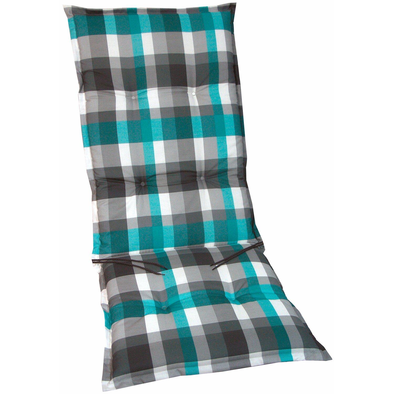 hochlehner auflage langeoog t rkis grau kariert kaufen bei obi. Black Bedroom Furniture Sets. Home Design Ideas