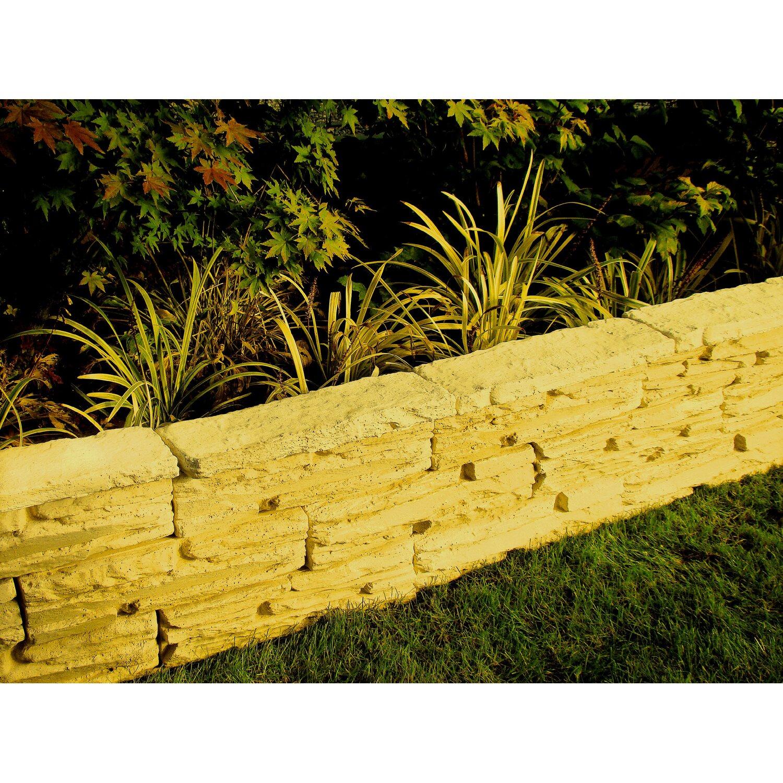 Mauerstein gelb 45 cm x 11 5 cm x 10 cm kaufen bei obi - Muretti in pietra giardino ...