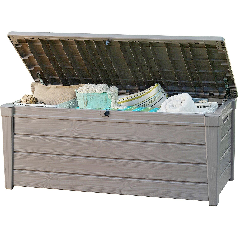 Keter Auflagenbox Brightwood 455 L Taupe Kaufen Bei Obi