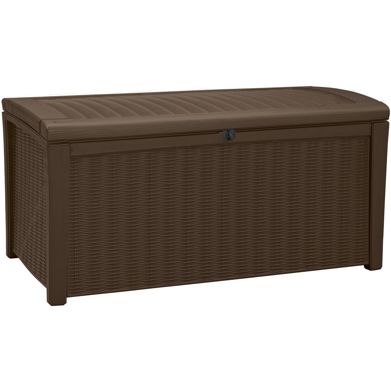 keter auflagenbox borneo 400 l espressobraun kaufen bei obi. Black Bedroom Furniture Sets. Home Design Ideas