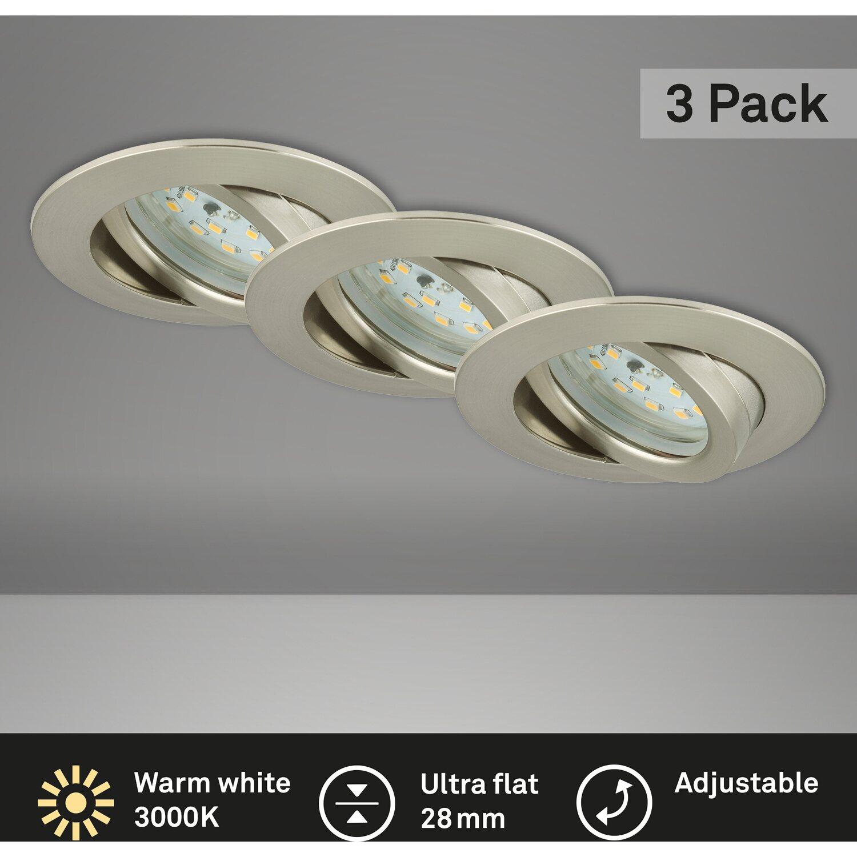 Briloner Leuchten, LED Einbauleuchte, Einbaustrahler Set