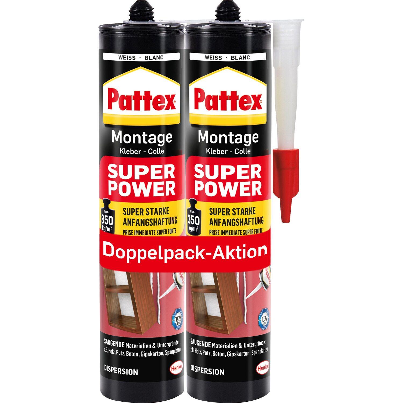 pattex montage kleber superpower doppelpack aktion wei 370 g kaufen bei obi. Black Bedroom Furniture Sets. Home Design Ideas