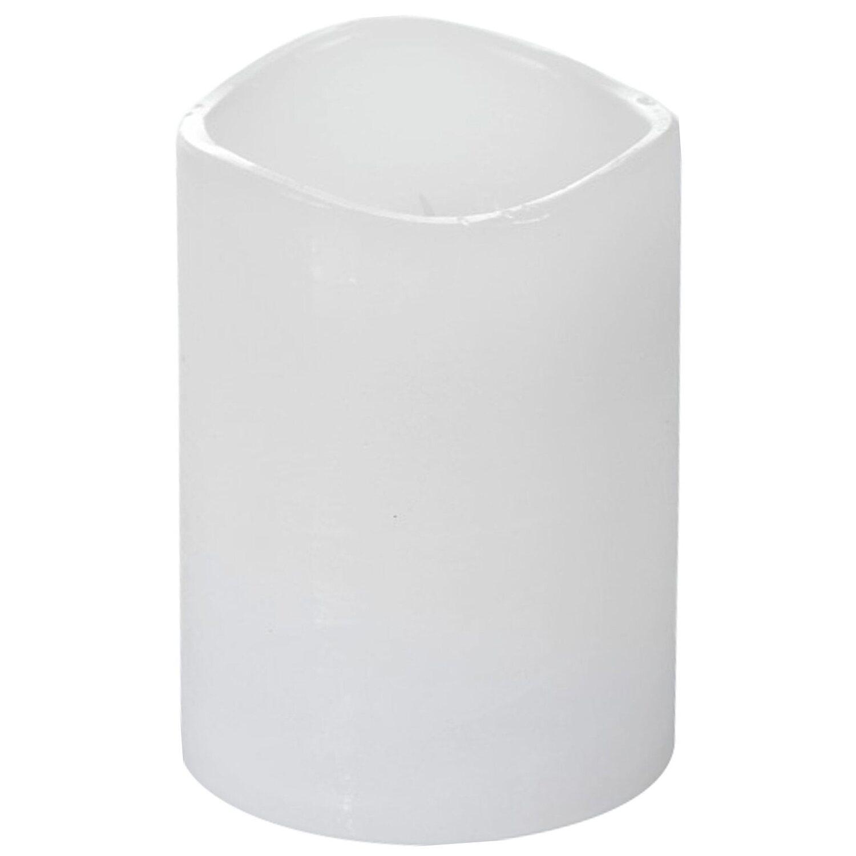 LED-Kerze Weiß 7,5 cm x 10 cm