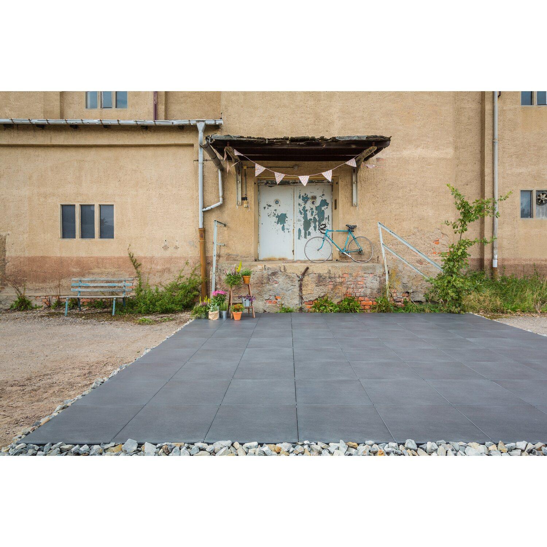 terrassenplatte feinsteinzeug basalt graphite 59,4 x 59,4 x 2 cm