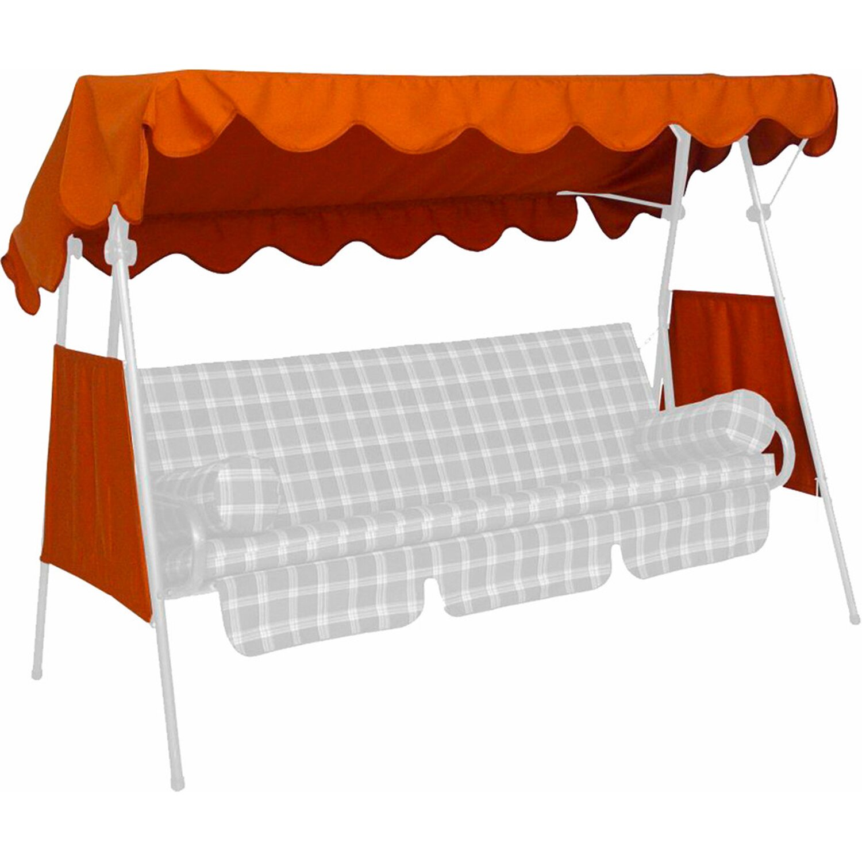 Angerer Freizeitmöbel Sonnendach für Hollywoodschaukel 120 x 200 cm Terracotta