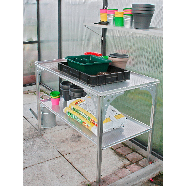 KGT Universal-Aluminium-Tisch für KGT Gewächshäuser ca. 120 cm x 64 cm x 80 cm Preisvergleich