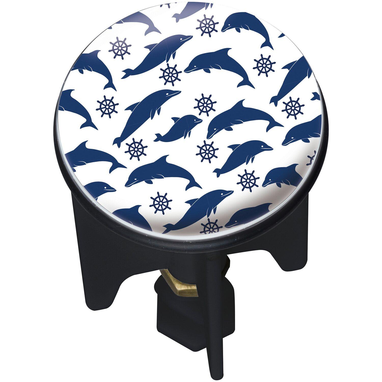 Wenko Abfluss-Stopfen Pluggy Dolphin