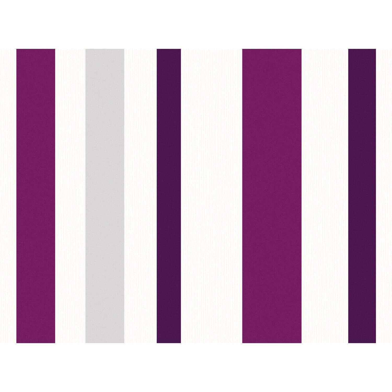 Schöner Wohnen Kollektion Vliestapete Streifen Violett